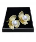 Ohrstecker Blume Vergoldet