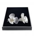 Ohrstecker Blume Silber 925
