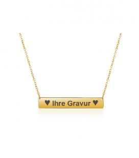 Halskette Gravurhalskette Balken