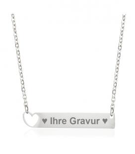 Halskette Gravurhalskette Herz