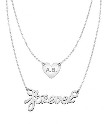 Halskette Gravurhalskette Forever
