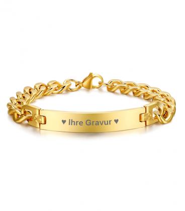 Armband Gravurarmband Gold
